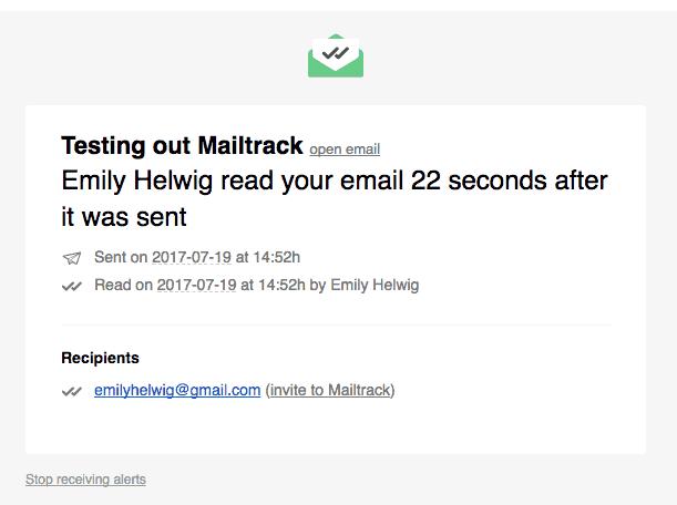 mailtrack screen shot