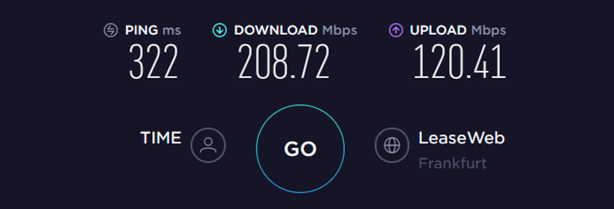 expressvpn speed test EU off