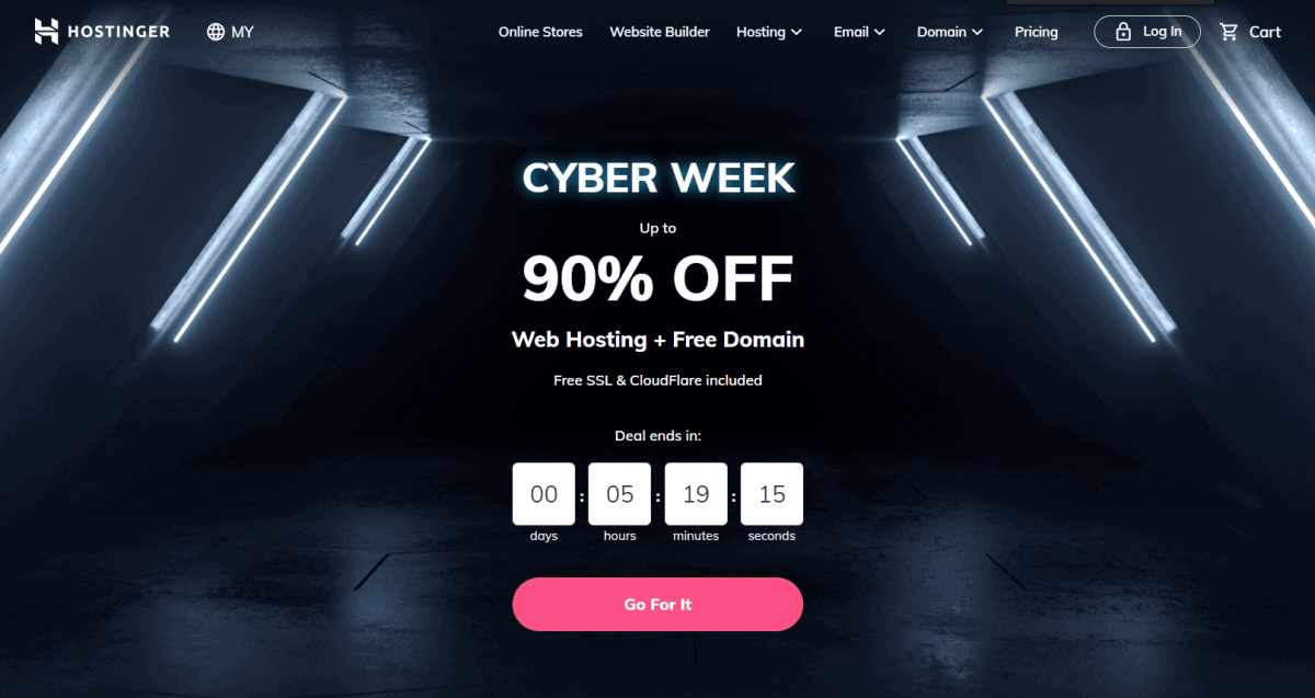 hostinger cyber monday sale 2020